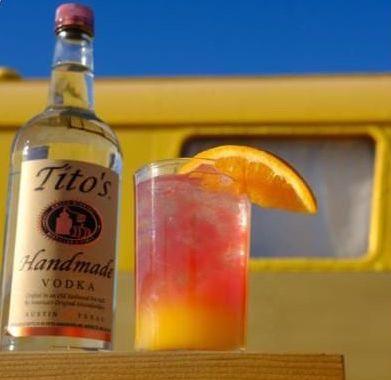 Mixed drink with Tito's Vodka